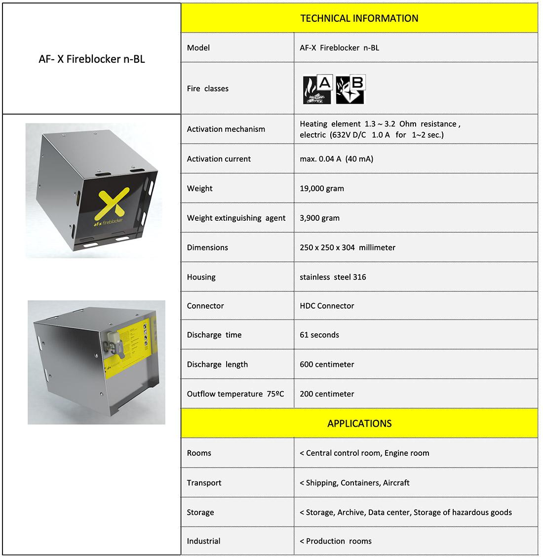 AF-X Fireblocker Nano BL-UK